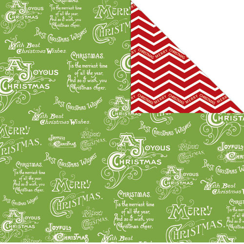 Creative Imaginations - Holly Jolly Collection - Christmas - 12 x 12 Double Sided Paper - Christmas Time