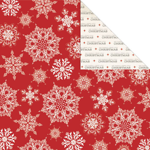 Creative Imaginations - Holly Jolly Collection - Christmas - 12 x 12 Double Sided Paper - Jolly Snowflakes