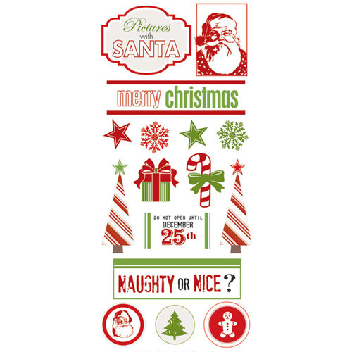 Creative Imaginations - Holly Jolly Collection - Christmas - Cardstock Stickers - Icons