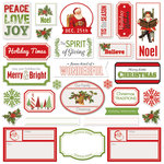 Creative Imaginations - Holly Jolly Collection - Christmas - Die Cut Cardstock Pieces