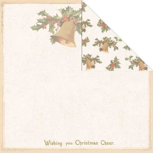 Creative Imaginations - Holly Jolly Collection - Christmas - 12 x 12 Double Sided Paper - Jingle Bells