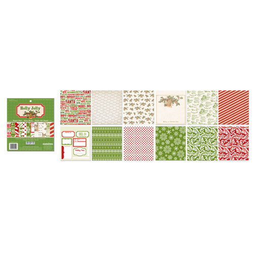 Creative Imaginations - Holly Jolly Collection - Christmas - 6 x 6.75 Paper Pad