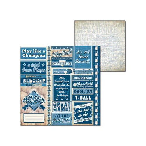 Splash of Color - All Baseball Collection - 12 x 12 Double Sided Paper - Play Ball