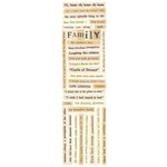 Splash of Color - Just Because Collection - Cardstock Stickers - Family Words