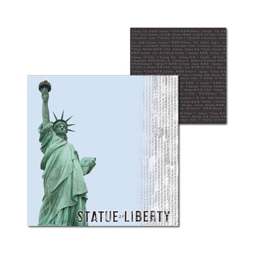Splash of Color - New York Collection - 12 x 12 Double Sided Paper - Liberty