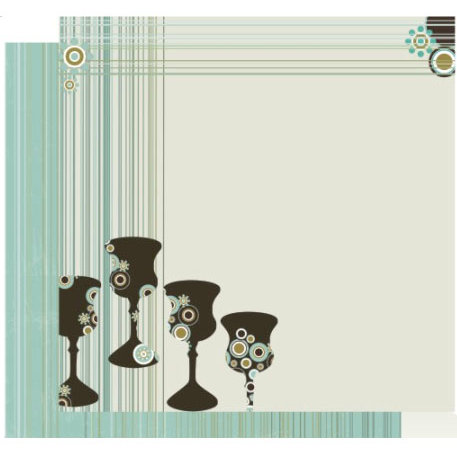 Crafting Jewish Style - Passover Collection - 12 x 12 Double Sided Paper - Four Fab Cups, CLEARANCE