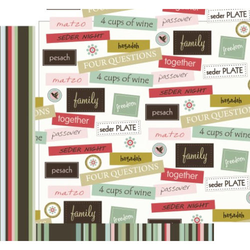 Crafting Jewish Style - Passover Collection - 12 x 12 Double Sided Paper - Family Together, CLEARANCE