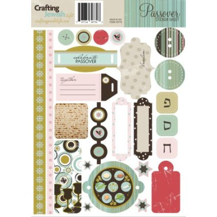Crafting Jewish Style - Passover Collection - Cardstock Stickers - Sheet One, CLEARANCE
