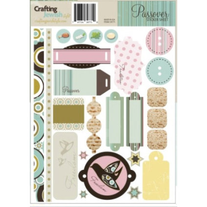 Crafting Jewish Style - Passover Collection - Cardstock Stickers - Sheet Two