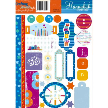 Crafting Jewish Style - Hannukah Collection - Cardstock Stickers - Sheet One, CLEARANCE