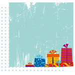 Crafting Jewish Style - Hannukah Collection - 12 x 12 Double Sided Paper - Pass The Present, CLEARANCE