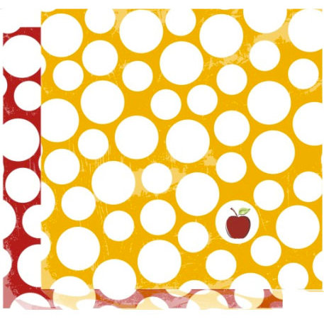 Crafting Jewish Style - Rosh Hashanah Collection - 12 x 12 Double Sided Paper - Red Apple, CLEARANCE