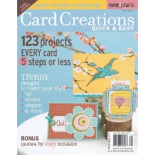 Paper Crafts Magazine Card Creations Quick And Easy