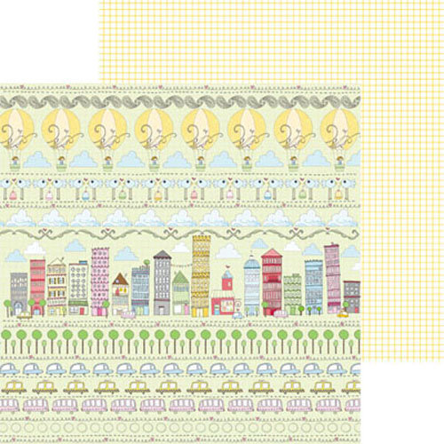 Clever Handmade - Above the Clouds Collection - 12 x 12 Double Sided Paper - City Street