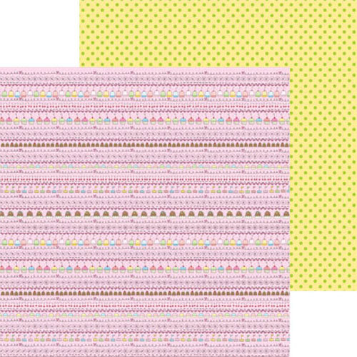 Clever Handmade - Above the Clouds Collection - 12 x 12 Double Sided Paper - Treat Stripe