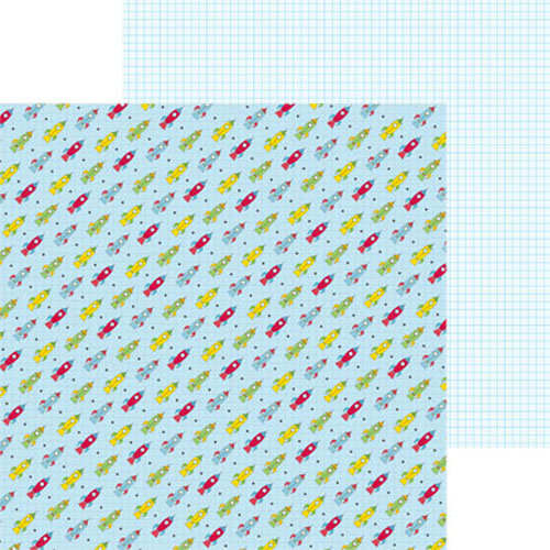 Clever Handmade - Out of This World Collection - 12 x 12 Double Sided Paper - Rockets