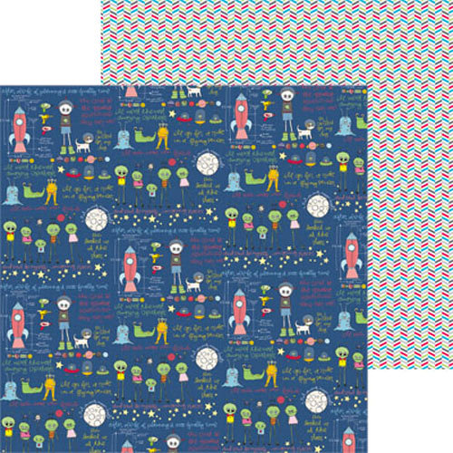 Clever Handmade - Out of This World Collection - 12 x 12 Double Sided Paper - Story