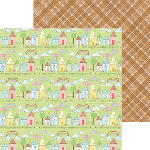 Clever Handmade - In This House Collection - 12 x 12 Double Sided Paper - House Rows