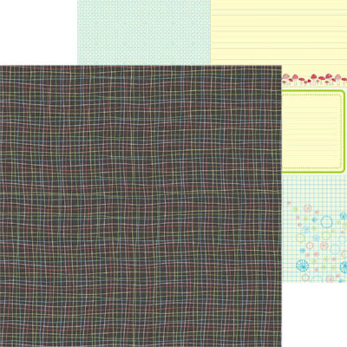 Clever Handmade - In This House Collection - 12 x 12 Double Sided Paper - Plaid