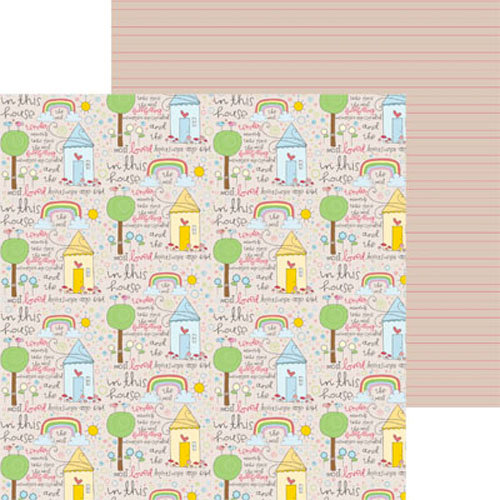 Clever Handmade - In This House Collection - 12 x 12 Double Sided Paper - Story