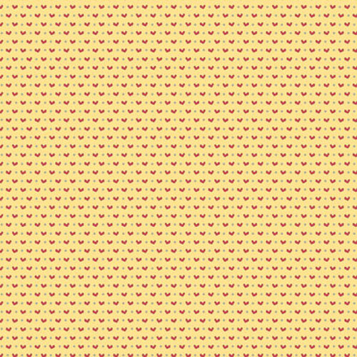 Clever Handmade - In This House Collection - 12 x 12 Shimmer Paper with Glitter Accents - Hearts