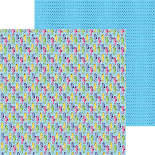 Clever Handmade - Beneath the Sea Collection - 12 x 12 Double Sided Paper - Sea Horses