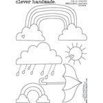 Clever Handmade - Embroidery Patterns - Rub Ons - Rainbow