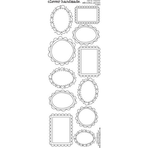 Clever Handmade - Embroidery Patterns - Rub Ons - Frames