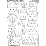 Clever Handmade - Embroidery Patterns - Rub Ons - Crowns
