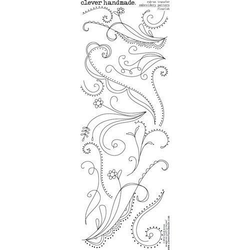 Clever Handmade - Embroidery Patterns - Rub Ons - Flourish