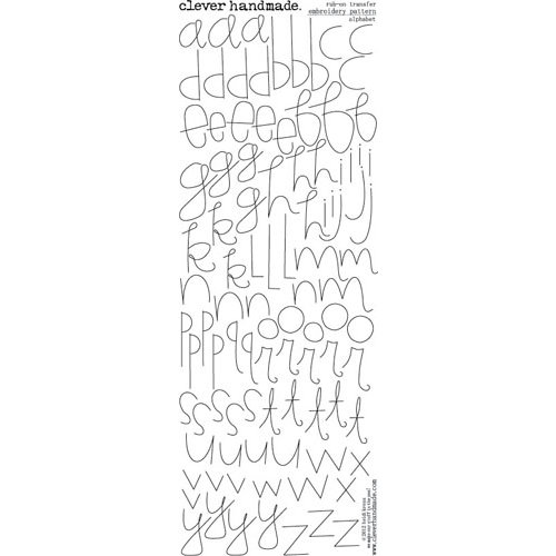 Clever Handmade - Embroidery Patterns - Rub Ons - Alphabet