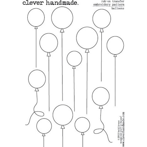 Clever Handmade - Embroidery Patterns - Rub Ons - Balloons