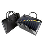 C-Line - Expanding File with Handles - 13-Pocket - Black