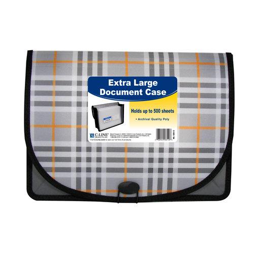 C-Line - Extra Large Document Case - Plaid Series
