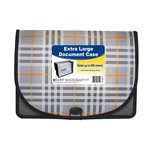 C-Line - Extra Large Document Case - Plaid Series