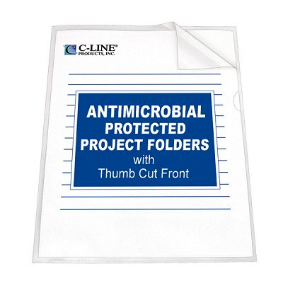 C-Line - 8.5 x 11 - Antimicrobial Protected Project Folders - 25 Pack