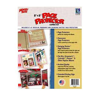 C-Line - Memory Book - Page Protectors - 8 x 8 Clear Combo Kit - 15 Pack