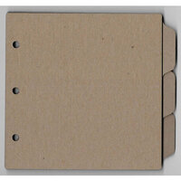 Clear Scraps - Chipboard Album - 6 x 6 Tab