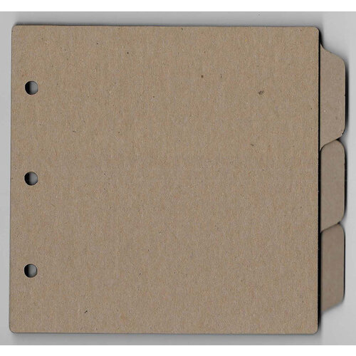 Clear Scraps - Chipboard Album - 8 x 8 Tab