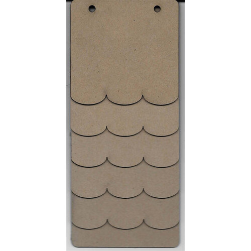 Clear Scraps - 3.5 x 8 Mini Chipboard Album - Scallop