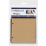 Clear Scraps - Chipboard Album - 4 Pages Regular - 4 x 4