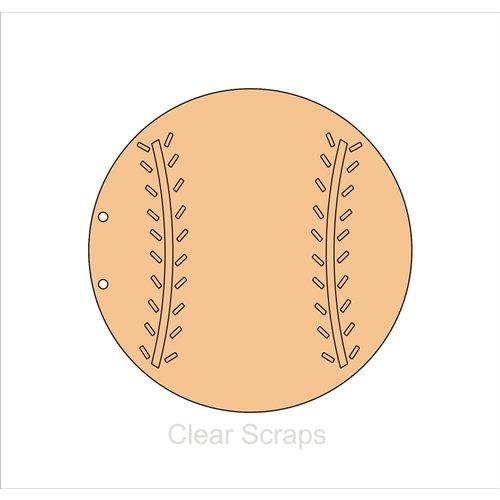 Clear Scraps - Chipboard Album - Baseball