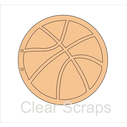 Clear Scraps - Chipboard Album - Basketball