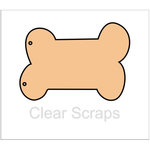 Clear Scraps - Chipboard Album - Dog Bone