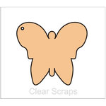 Clear Scraps - Chipboard Album - Butterfly