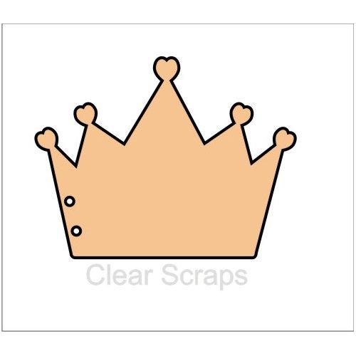 Clear Scraps - Chipboard Album - Crown