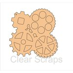 Clear Scraps - Chipboard Album - Gears