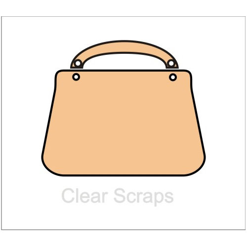 Clear Scraps - Chipboard Album - Purse