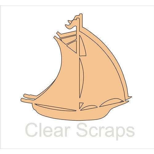 Clear Scraps - Chipboard Album - Sail Boat