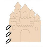 Clear Scraps - Chipboard Album - Sandcastle, BRAND NEW